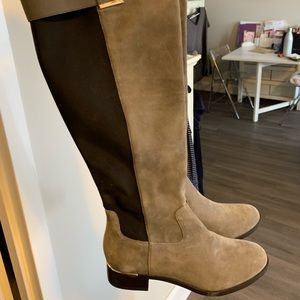 Knee High Calvin Klein Suede Boots